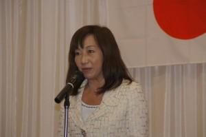 国会議員挨拶(林裕子夫人)